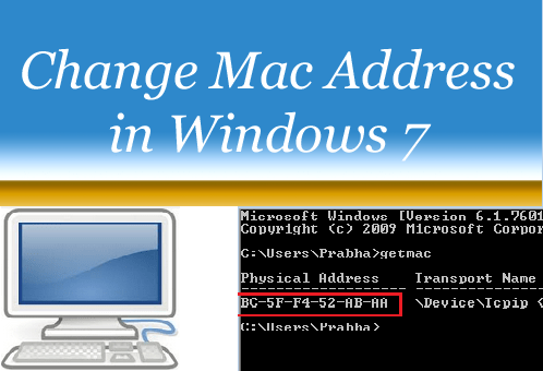 Change Mac Address of Computer