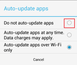 Disable Auto-update Apps