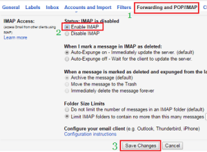 Enable IMAP in Gmail Account