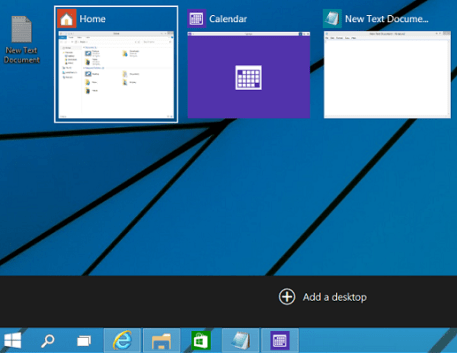 Task View Feature in Windows 10