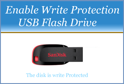Enable Write Protection USB Flash Drive
