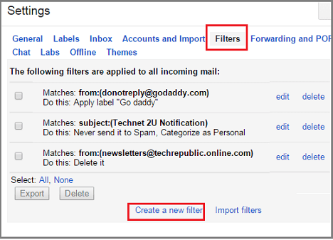 Delete Spam Email In Gmail Automatically