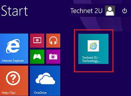 Pin Websites to the Start Screen In Windows 8