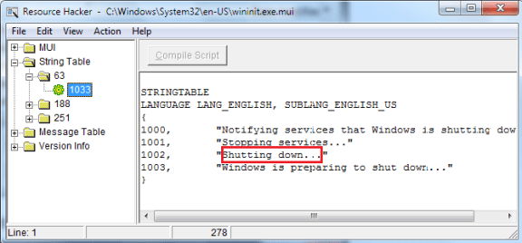 "Change the ""Shutting Down..."" Text Message In Windows 7"
