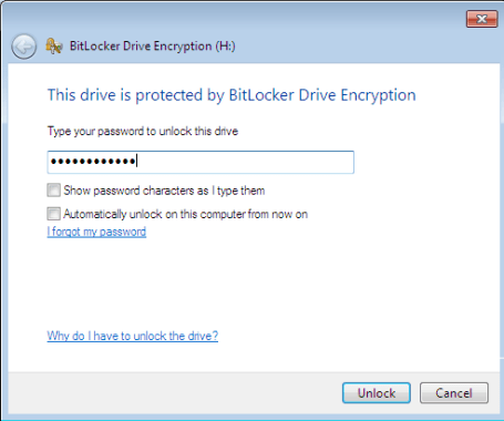 Password Protect Hard Drive In Windows 7