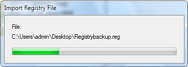 Backup and Restore Registry In Windows 7