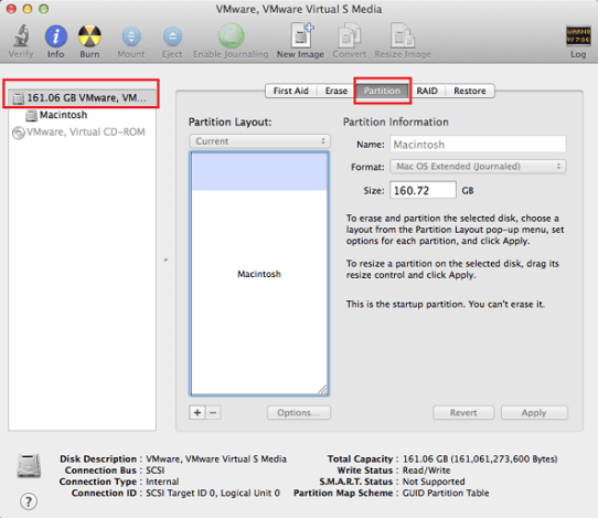 Create Partition In Hard Drive on Mac OS