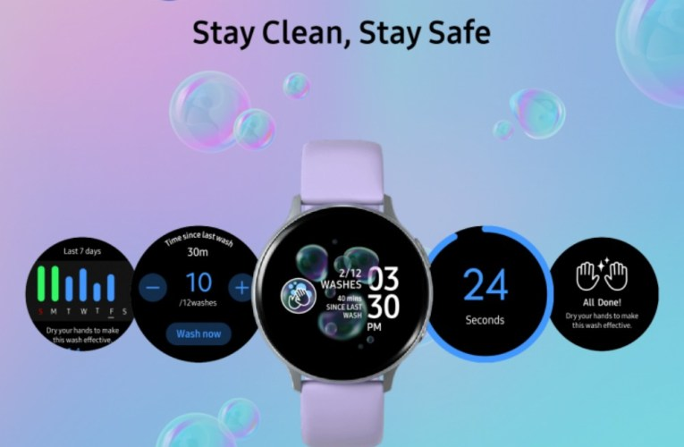 Samsung's new app for Galaxy Watch reminds users to wash their hands