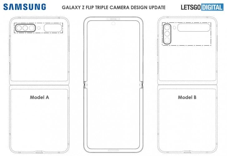 Samsung Galaxy Z Flip of the second generation appears in a new patent