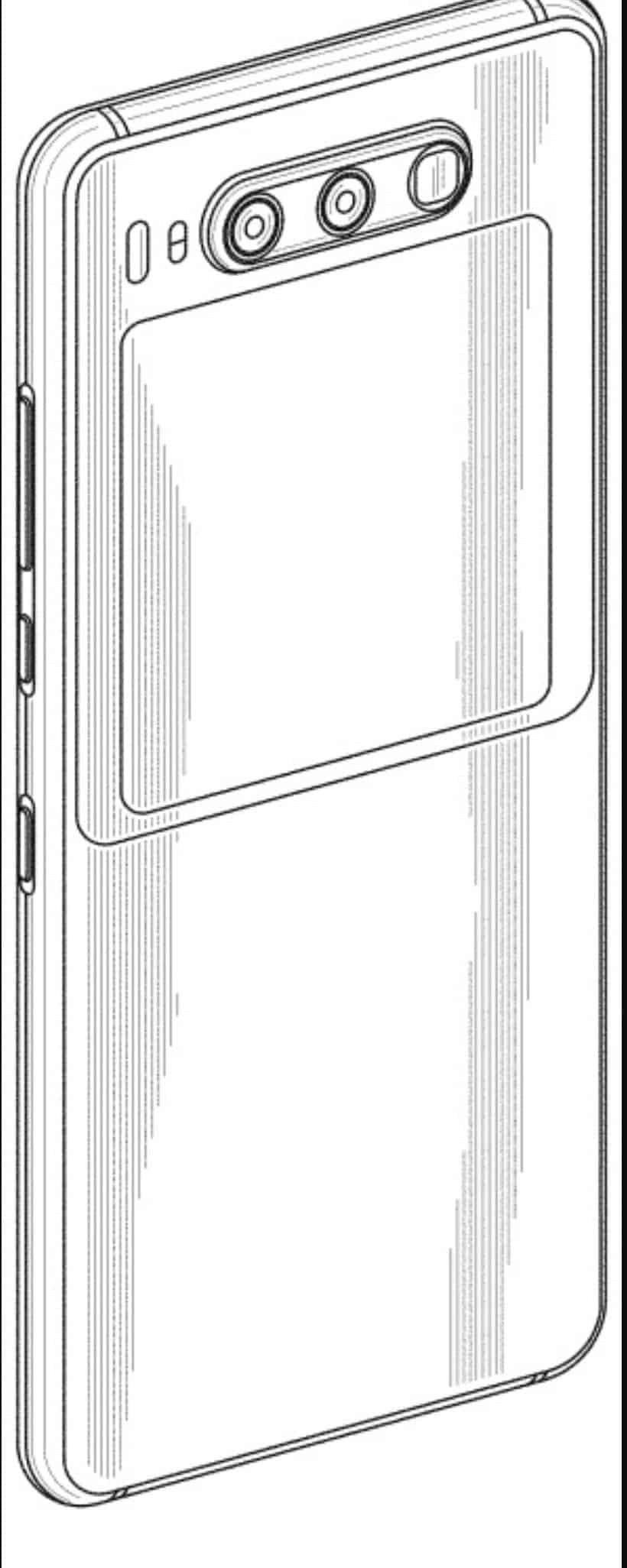 Huawei files a patent for a smartphone with a secondary display on the back