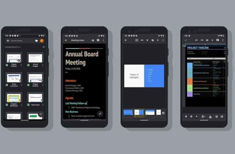Google added the dark theme to some of its apps