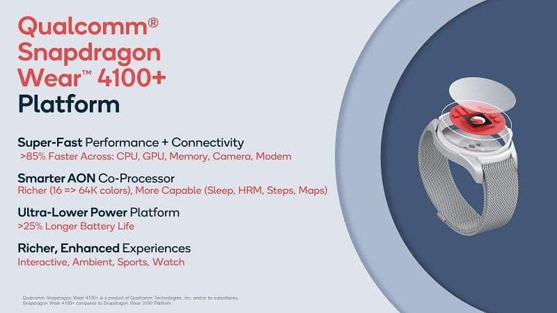 Qualcomm Snapdragon Wear 4100+ and 4100 become official - 85% more power for smartwatches