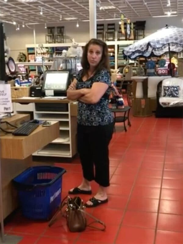 Debra Hunter, a Florida woman who was caught on video coughing on a shopper, Heather Reed Sprague, at a Pier 1 store in Jacksonville, Fla., said she felt remorse.