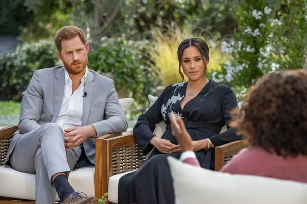 Oprah Reacts To Interviewing Meghan Markle And Harry