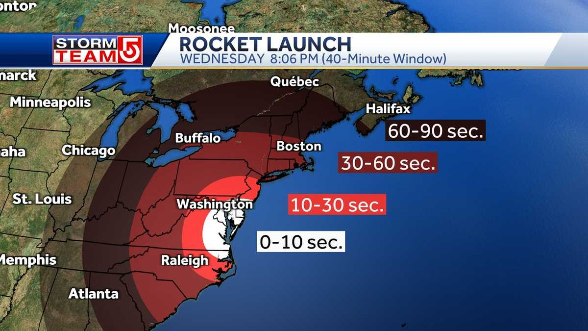 Massachusetts has a chance to see NASA experiment launch Wednesday night