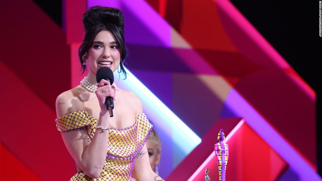 Dua Lipa's Brit Awards outfits channel UK pop icons