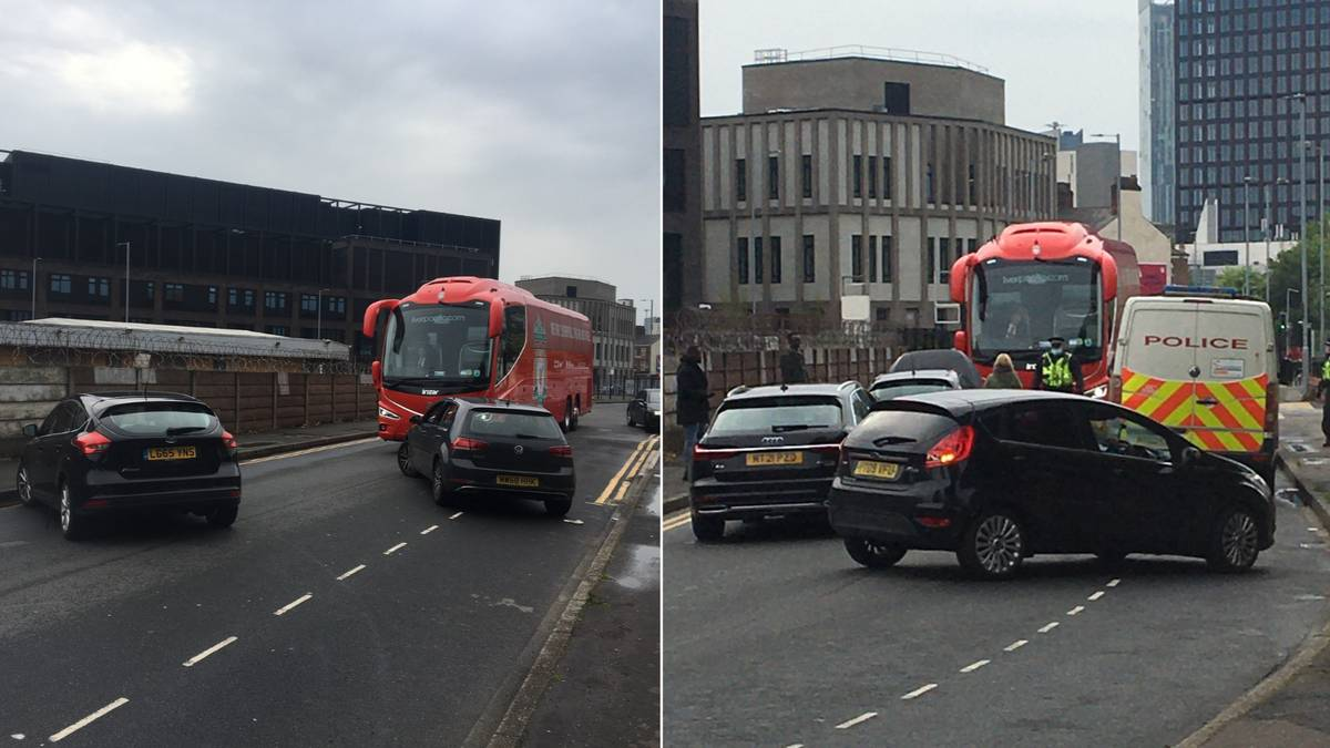 Liverpool's Team Bus Has Been Blocked From Arriving At Old Trafford Ahead Of Manchester United Game