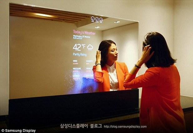 Samsung изуми с прозрачни и огледални дисплеи