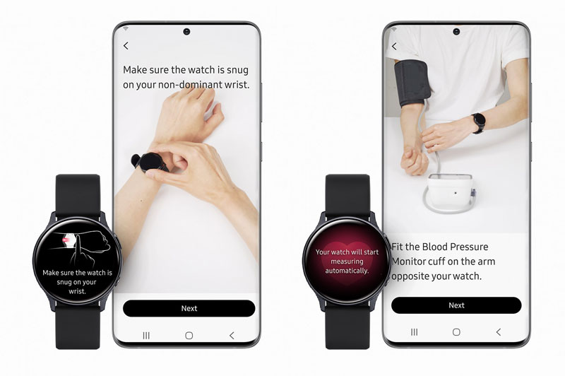 Apple Watch වෙත අභියෝගයක් එල්ල කරමින් Galaxy Watch Active 2 වෙත Blood Pressure App එකක් ලබාදීමට Samsung සමාගම කටයුතු කරයි