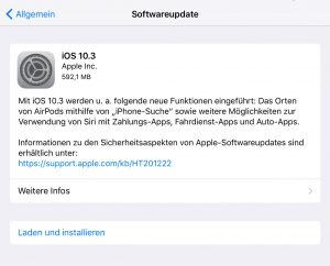 Neues iOS Update.