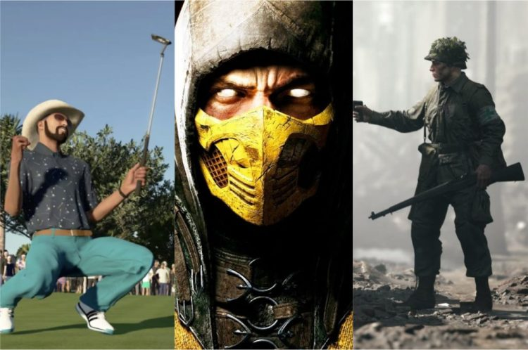 PGA Tour 2K21, Mortal Kombat X and Hell Let Loose are possible PlayStation Plus games as of October 2021 (Image: Playback/2K Sports   Warner Bros.   Team17)