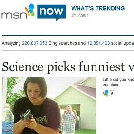 Microsoft's msnNOW tracks latest Web buzz thru Bing