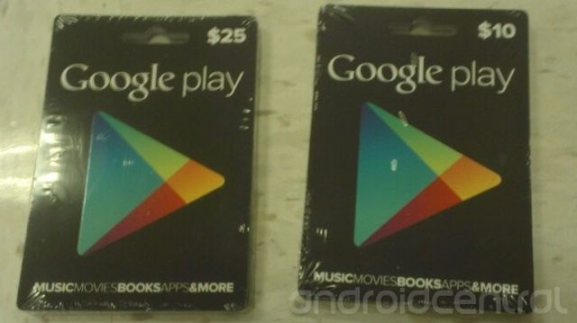 Google to release Google Play gift cards