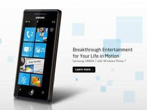 The Samsung Omina 7 is a Windows Mobile phone