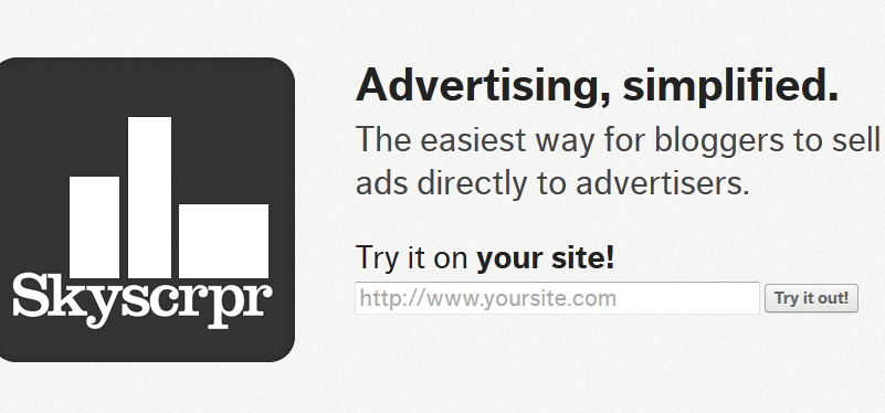 Skyscrpr: ads for bloggers just got easier!