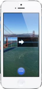 A photo taken with the new iPhone's panorama shot