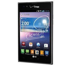 LG Intuition front image