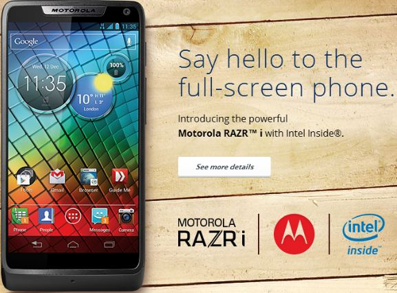 Motorola launches the first Intel powered Smartphone