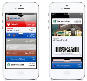The Passbooks app as used on an iPhone 5