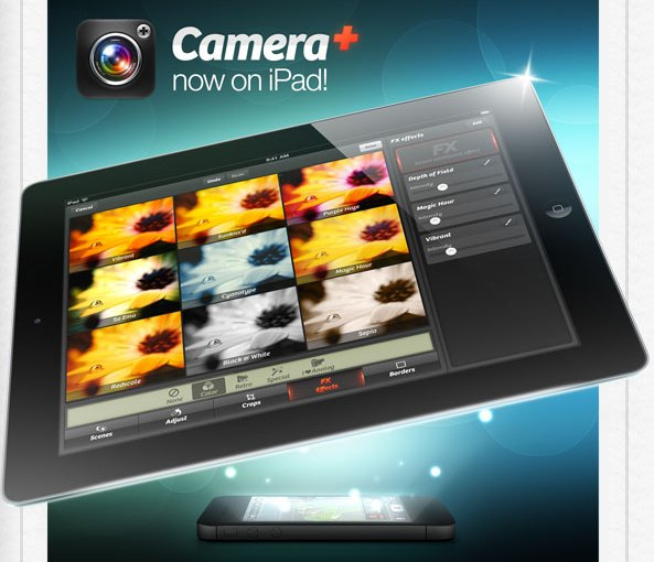 iPad owners can now enjoy the Camera+ app on their tablets