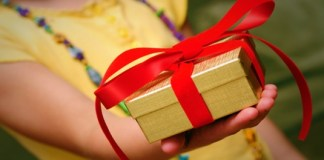 Gift giving feature on Facebook