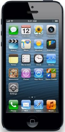 The front face of the iPhone 5
