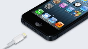 the iPhone 5 Dock connector
