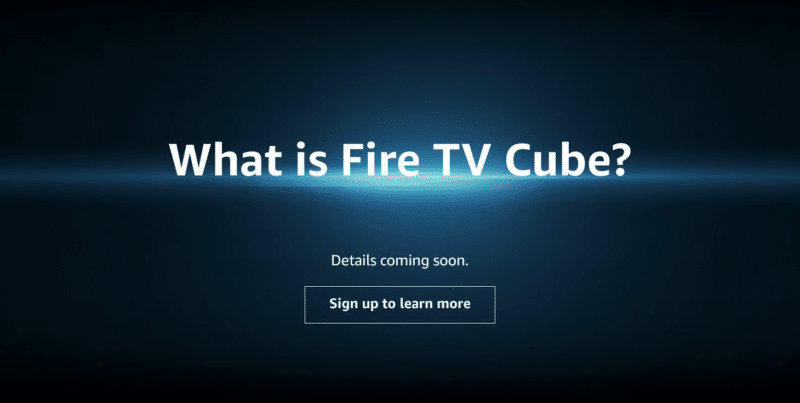 Hidden Amazon Page Teases Upcoming Fire TV Cube