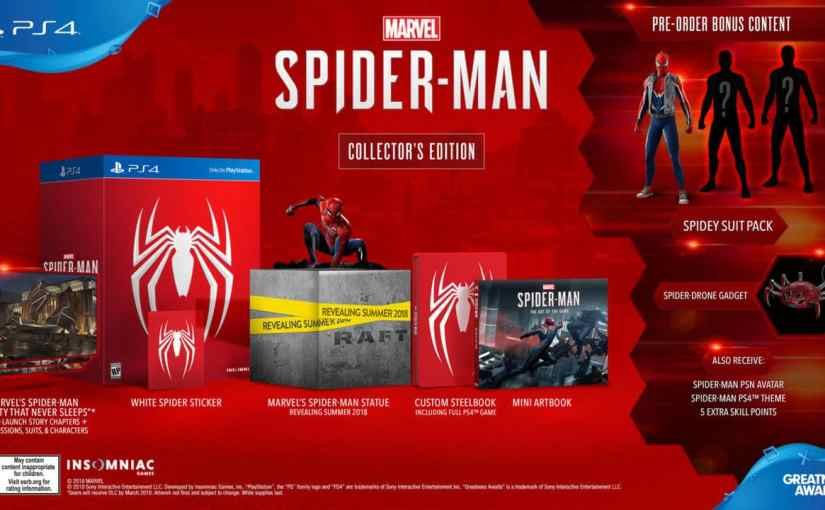 Sony, Insomniac Games: Spider-Man PS4 Collector's Edition And DLC Announced