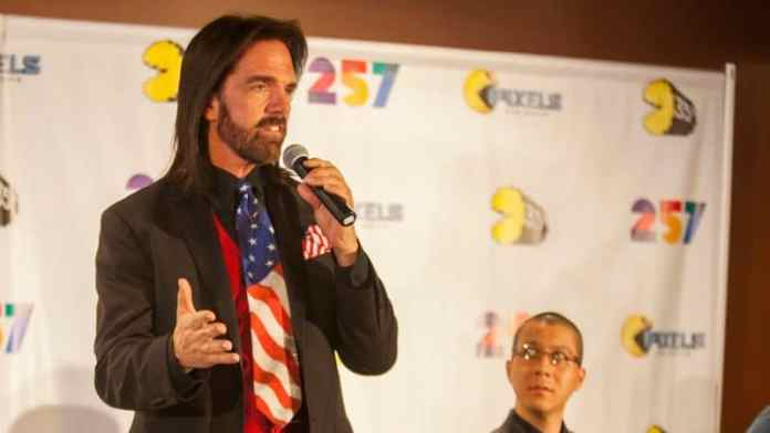 Billy Mitchell at the Pac-Man 35th Birthday Celebration