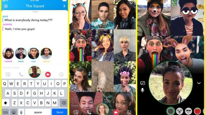 Snapchat brings group video calling to its app