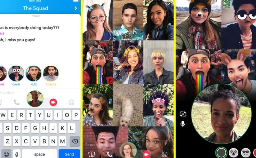 Snapchat Introduces Group Video Chat and Mentions