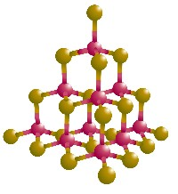 Cadmium sulfide molecular model (NASA)