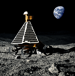Illustration of Astrorobotic's lunar rover (Astrobotic Technology Inc.)