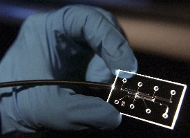 Example of lab-on-a-chip (NASA)
