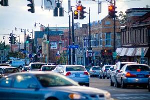 Traffic on Main Street in Buffalo (Univ. at Buffalo)