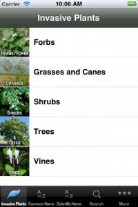 Screen shot from Forest Service iPhone app (U.S. Forest Service)