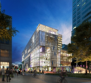 Artist's rendering of the proposed Brooklyn CUSP site (New York University)