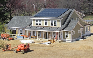 Net-zero energy home under construction (National Institute of Standards and Technology)