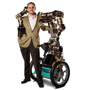 Mike Stilman with humanoid robot Golem Krang (Georgia Institute of Technology)